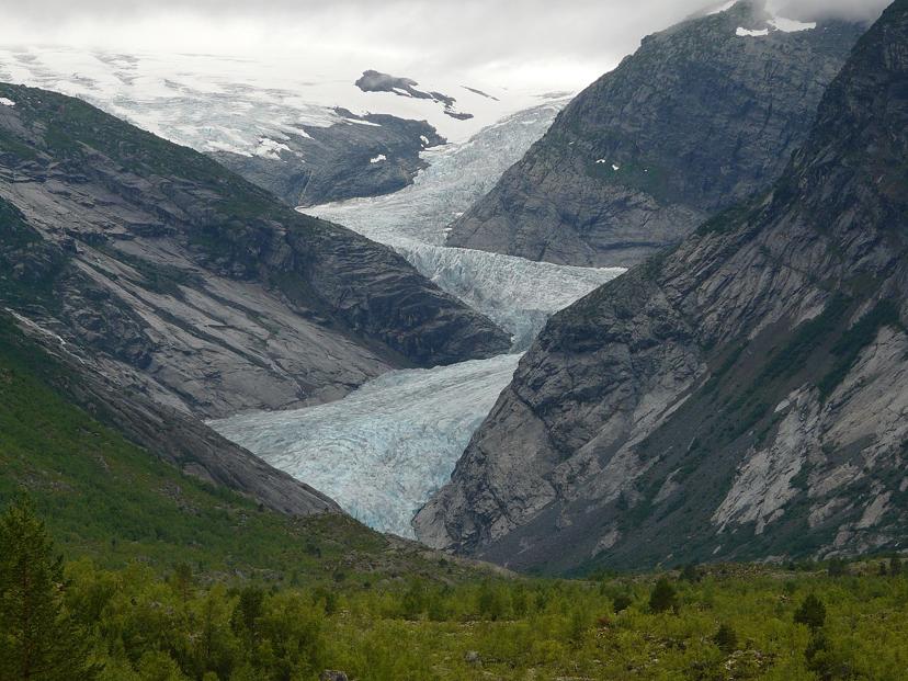Jostedal gleccser norvégiában. Forrás: Wikipédia Készítette: G.Lanting